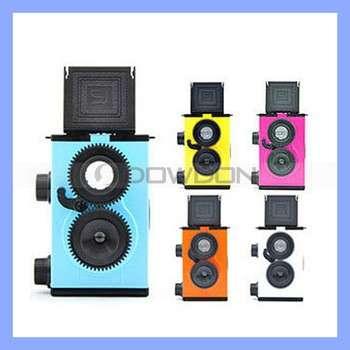 迷你复古DIY 35mm胶片的LOMO相机DIY彩色相机的双镜头反光照相机
