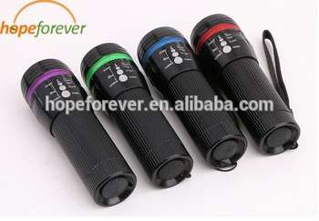 批发便宜的LED手电筒,LED手电筒手电筒酷,高功率3W变焦调光亮的LED手电筒