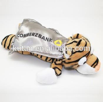 新定制的毛绒老虎flingshot尖叫声与飞弹弓玩具/动物