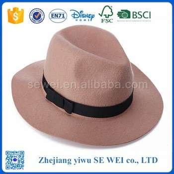 100%羊毛毡男装正式帽