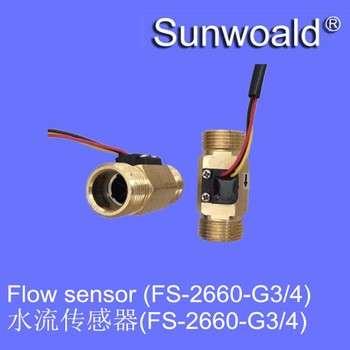 """DN20 G3 / 4 """";率1.5 ~ 50L/min厅水黄铜流量传感器仪表"""