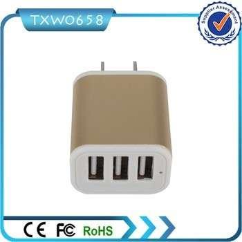 OEM工厂供应CE ROHS FCC批准散装USB充电器快速多端口USB充电器