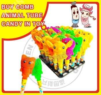 买梳子动物便宜的塑料糖果玩具