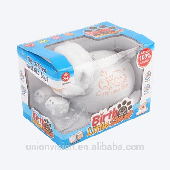塑料可爱的白色绵羊卷起玩具