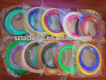 盒/袋包3d笔丝笔芯1.75mm PLA / ABS塑料丝20颜色的3D笔丝
