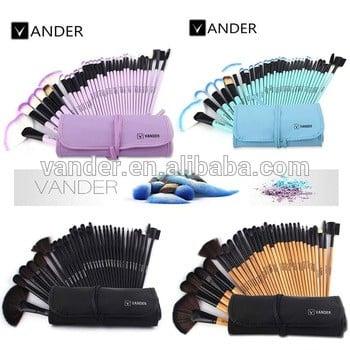 VANDER 32件套专业化妆刷基础眼影唇膏粉化妆刷工具折叠袋盒