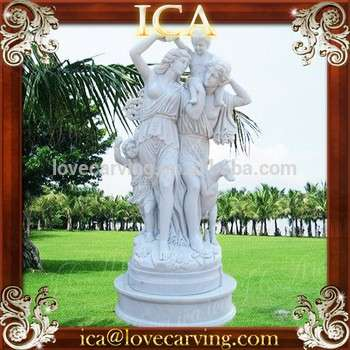 Garden European Large Natural White Stone Statues