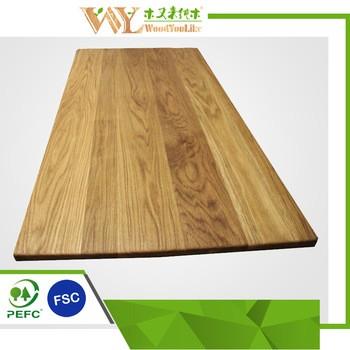 热售光滑表面全satve橡木板橡木台面宽板