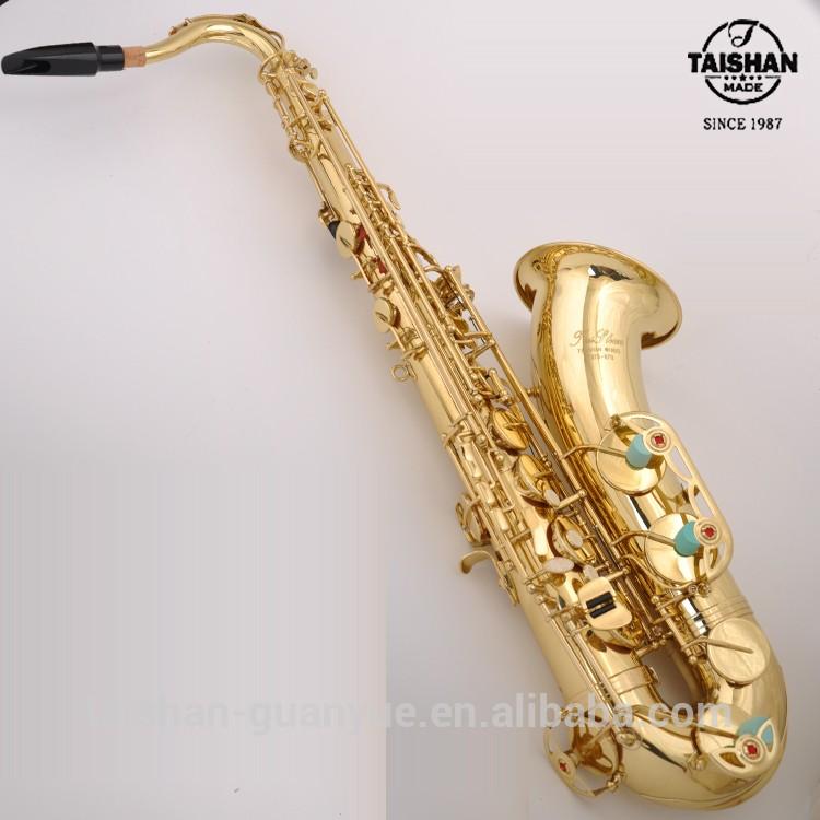 TAISHAN New Professional Tenor Bb Sax Saxophone Gold With