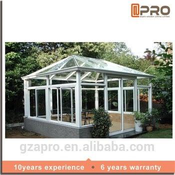 定制铝商业日光浴室的玻璃房子预制的玻璃房子