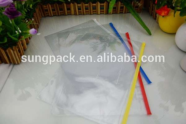 防水廉价促销透明PVC文件袋与拉链办公室A3 A4 A5文件袋