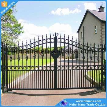 Fencing Trellis Gates Type Waterproof Easily Assembled wrought iron Gate