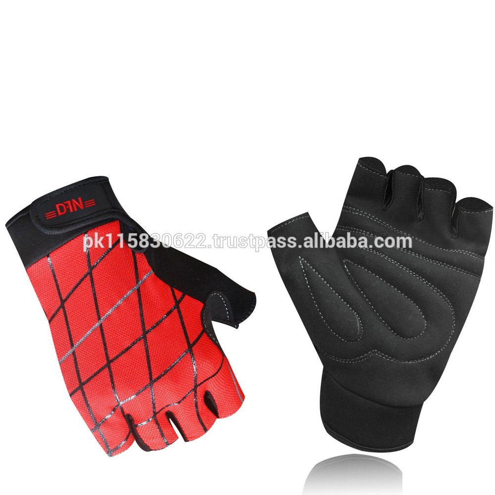 硅印刷举重手套阿姆拉皮革运动健身重量训练手套
