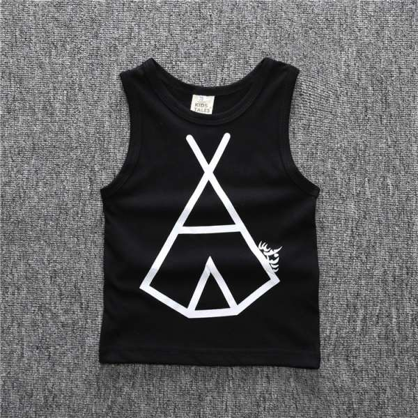 Latest New Model Funny Baby Tank Tops Cotton T Shirt With Logo Company