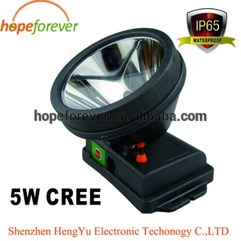 5W LED Rechargeable Lithium battery headlamp LED Miner's lamp