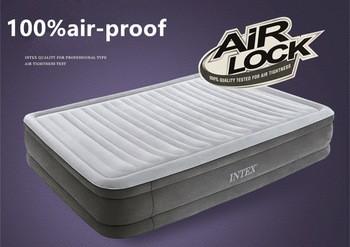 INTEX充气床户外便携式空气气垫床家三层双折叠双气垫床充气床垫