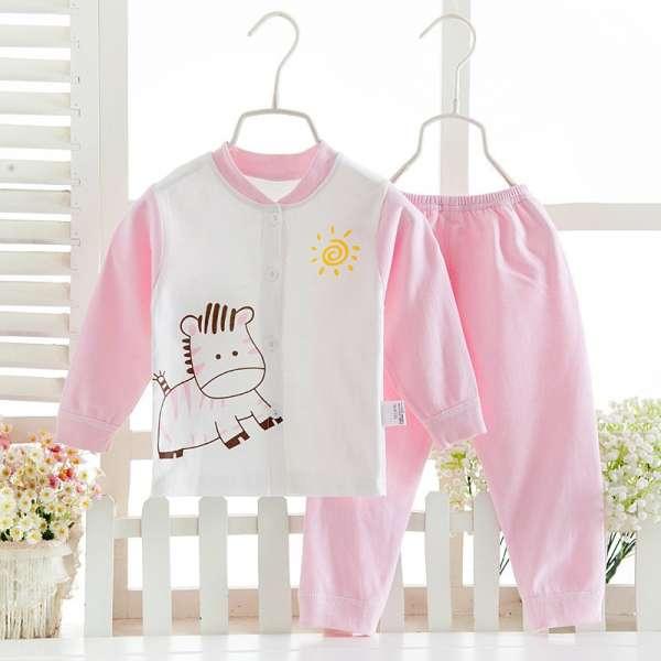 春秋卡通印花棉婴儿内衣套装