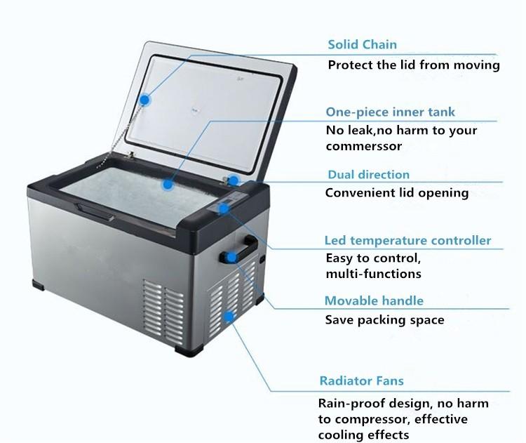 mini refrigerator freezers small portable deep 12v car fridge freezer with compressor av110v 240v 30litres camping fridge