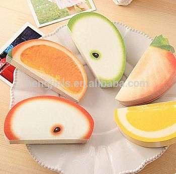 定制水果形状的便签可爱粘性便笺