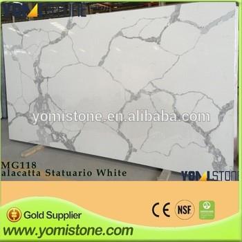 热售价格便宜在中国人造卡拉拉白色石英石台面批发