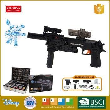 卓雅惊人的黑色电池操作水弹枪玩具
