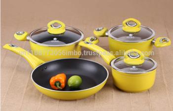Non Stick Forging Aluminum Fry Pan Pot Set Risoto Elmich S-05