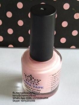 2种颜色的指甲乳胶液剥离钉艺术液体乳胶带15ml浸泡液的手指