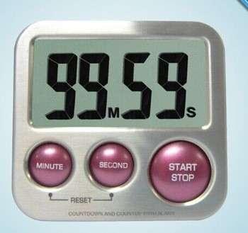 不锈钢大数字强磁数字厨房定时器超报警