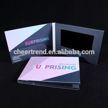 促销液晶视频宣传卡/液晶宣传册