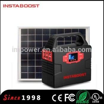 instaboost 12v便携式太阳能发电系统电池用于家庭照明/露营
