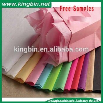 免费样品多色素色纯色礼品包装纸