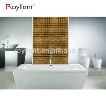室内装饰墙地砖批发铝自粘金镶嵌瓷砖5mm