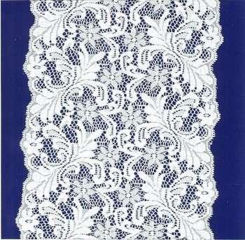 13mm弹性蓝色花边,法国线花边亮片和珠子