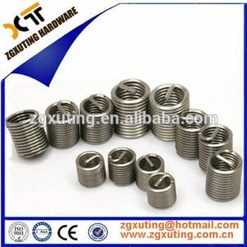 高质量的钢丝螺套修复,M4、M5、M6、M8 M10尺寸m2 M12 M14不锈钢螺丝线螺纹减少插入