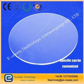 圆形透明紫外石英玻璃板