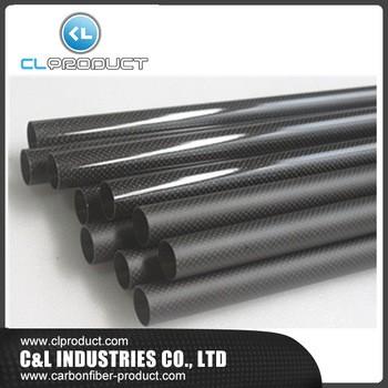 定制最佳的价格3k真正的碳纤维管