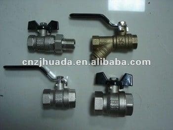 001锻造黄铜球阀、水和气体与钢柄