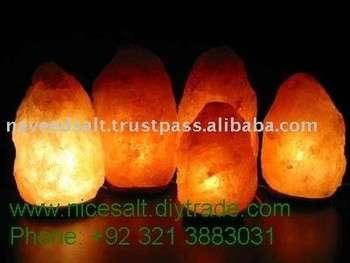 美丽雕刻天然喜马拉雅岩水晶盐灯