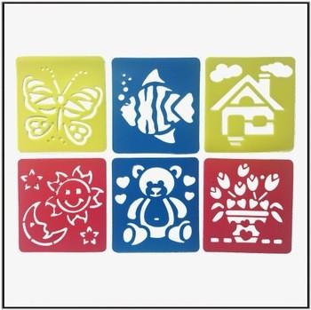儿童动物模板用鸟蝴蝶和鱼塑料拉丝模板