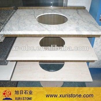 Carrara White大理石台面,卡拉拉白色大理石台面的价格,高质量的Carrara白台面浴室