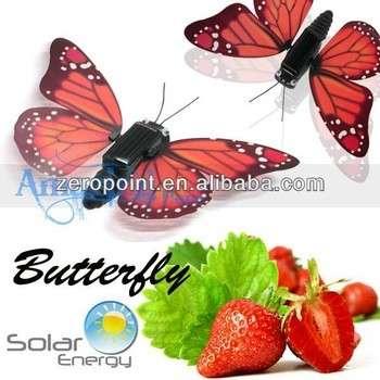 运动太阳能能量模拟蝴蝶益智玩具