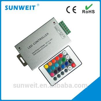 DC 12V-24V铝壳红外24键RGB LED与CE和RoHS远程控制器