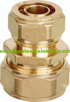 high quality S16/S18/S20/S25/S32 brass reducing coulper pipe fitting pex-al-pex pipe brass fitting