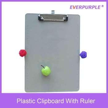 A4塑料印刷定制剪贴板为办公室/文具与平面夹具