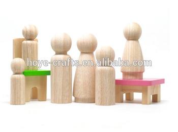 木制儿童画玩偶房子钉娃娃