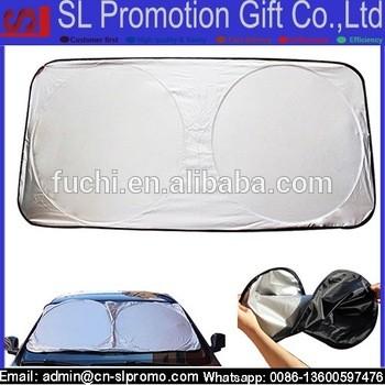 折叠式涤纶定制汽车遮阳篷前车窗遮阳