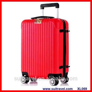 中国工厂的PC ABS硬边轻便的随身携带的行李箱3件一套的