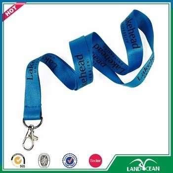 高质量单廉价涤纶定制LOGO打印挂绳