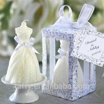 2017个新的优雅婚礼支持宴会桌装饰客人纪念品返回礼物新娘淋浴赞成门礼物新娘礼服蜡烛