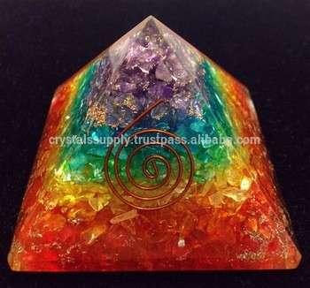 生命力金字塔7脉轮层状热:批发生命力的金字塔:批发精神生命力的产品新晶体供应